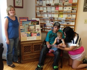 Pictured: St. Johnsbury Athenaeum partnered with NEKYS to provide books to local families.